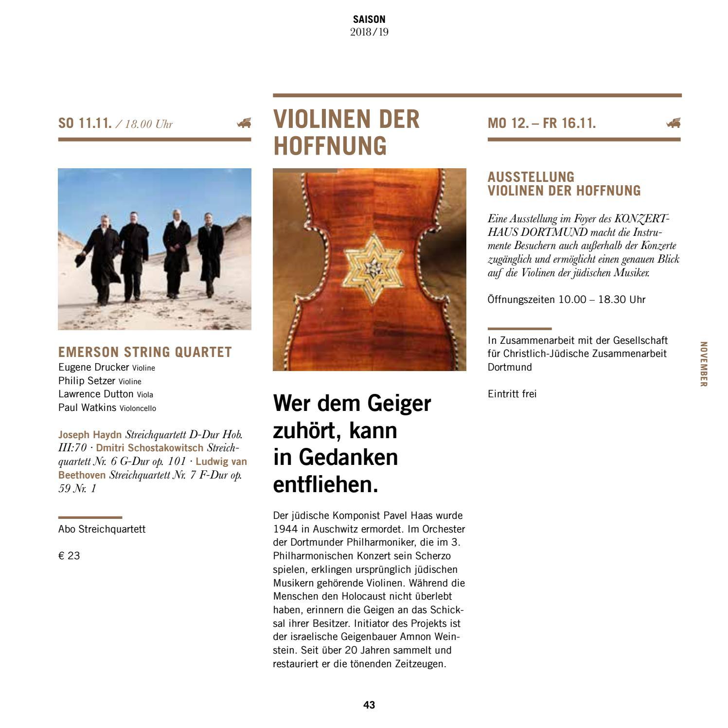 Saisonbuch 2018/19 by Konzerthaus Dortmund - issuu