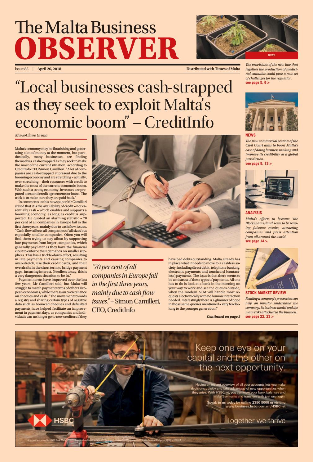 The Malta Business Observer April 2018 by Content House Group - issuu