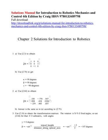 solutions manual for introduction to robotics mechanics and control rh issuu com Robot Design Industrial Robots