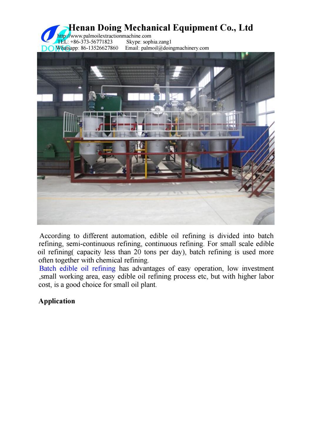 Batch type edible oil refining machine by cookingoilmachine - issuu