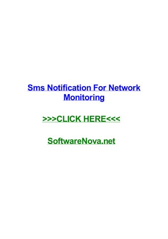 Sms notification for network monitoring by melissapmwa - issuu
