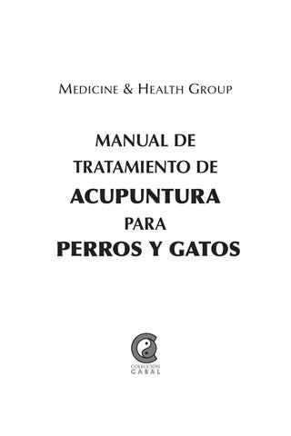 Manual de tratamiento de Acupuntura para perros y gatos ebook by ...