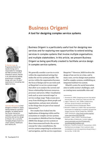 Page 22 of Business Origami: A tool for designing complex service systems