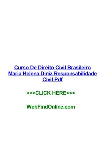 7616fb8d87003 Curso De Direito Civil Brasileiro Maria Helena Diniz Responsabilidade Civil  Pdf Curso de direito civil brasileiro maria helena diniz responsabilidade  civil ...