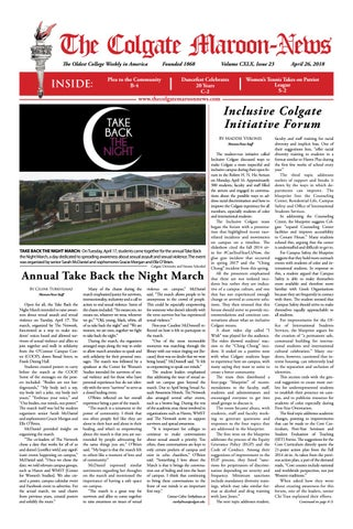 c047e474 The Colgate Maroon-News, Volume CXLX, Issue 23 by The Colgate Maroon ...