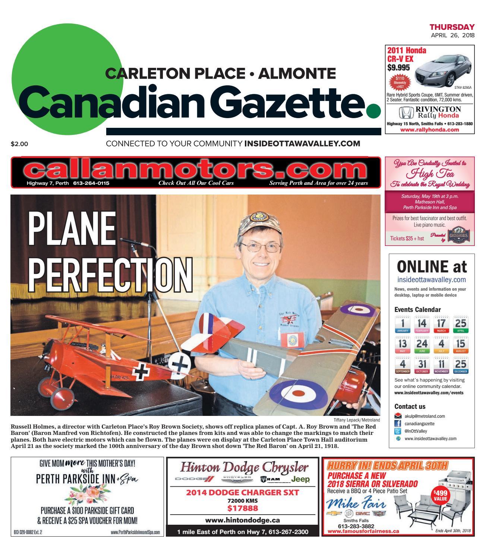 Otv c a 20180426 by Metroland East - Almonte Carleton Place Canadian  Gazette - issuu
