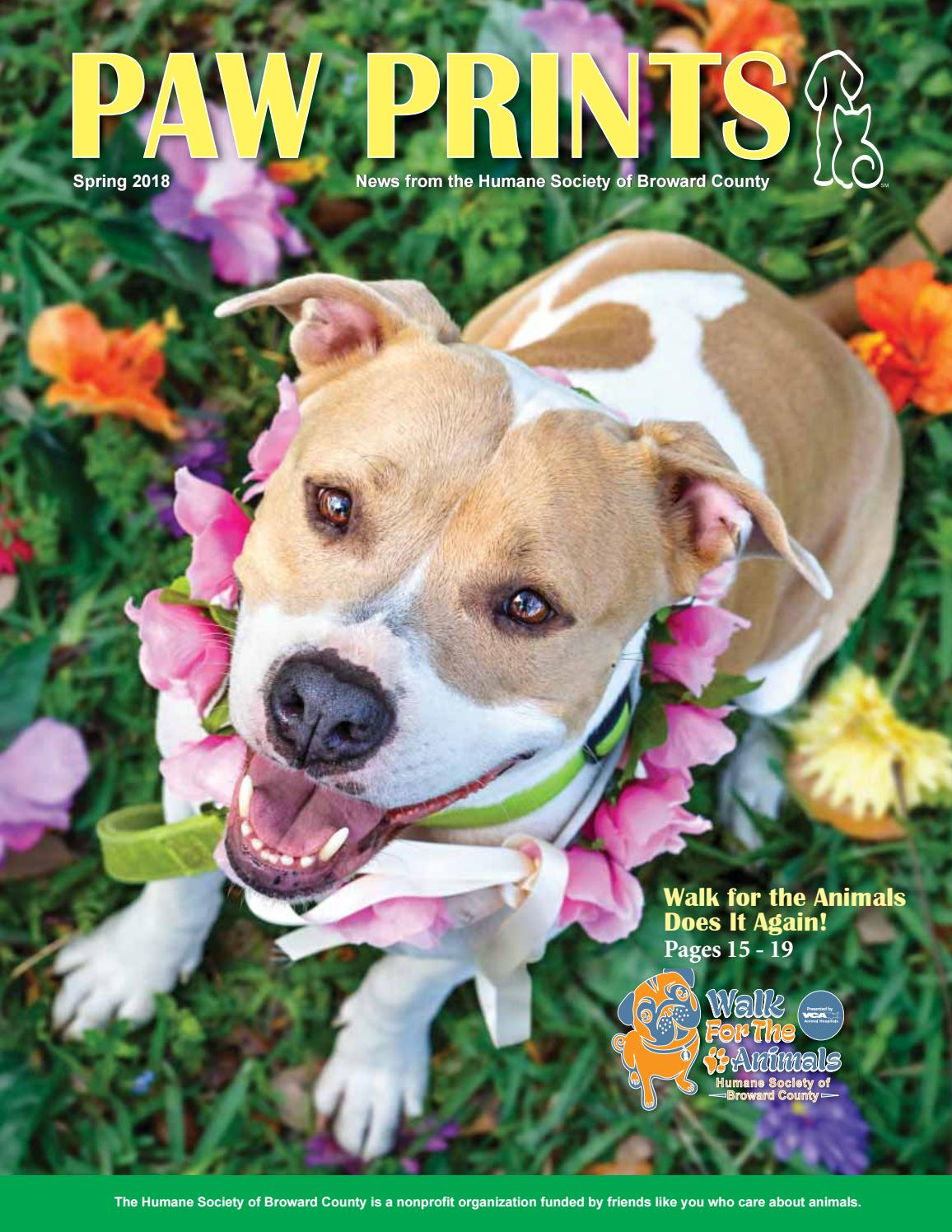 Paw Prints Spring 2018 by Humane Society of Broward County