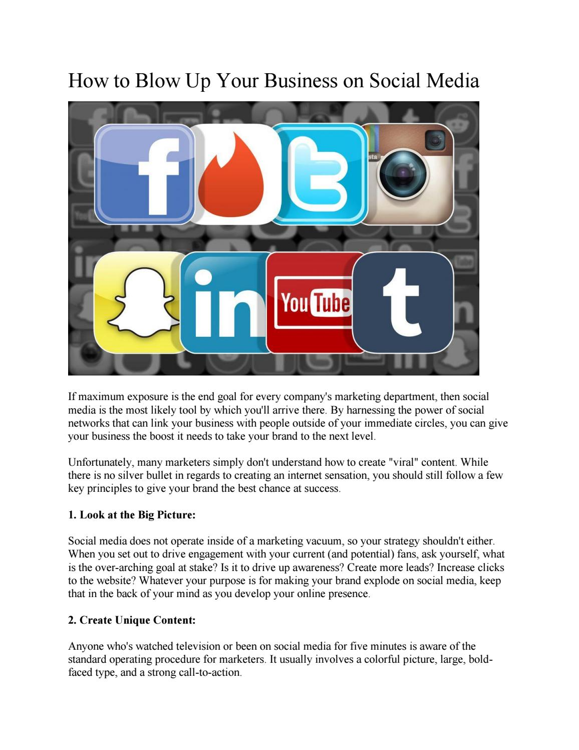 How to Blow Up Your Business on Social Media by Phil Shawe