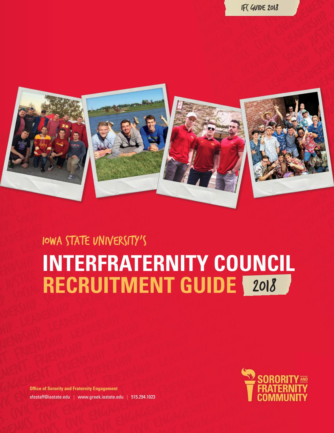 ISU IFC Guide 2018 by Iowa State University Office of Sorority and  Fraternity Engagement - issuu