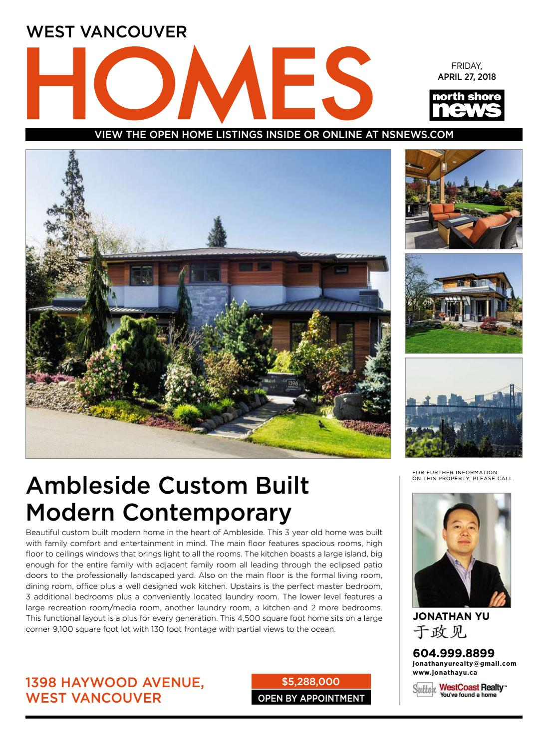 West Vancouver Homes Real Estate April 27 2018 by NSN