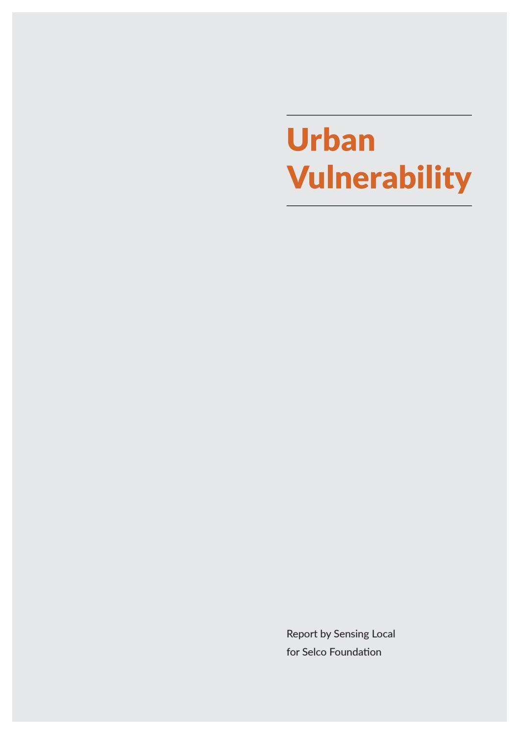 Assessing Urban Vulnerability by Sensing Local - issuu