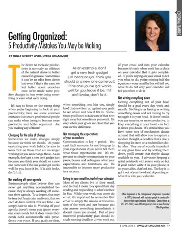 Page 19 of Getting Organized: 5 Productivity Mistakes You May be Making