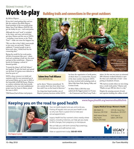 Page 10 of Work-to-play: Building trails and connections in the great outdoors