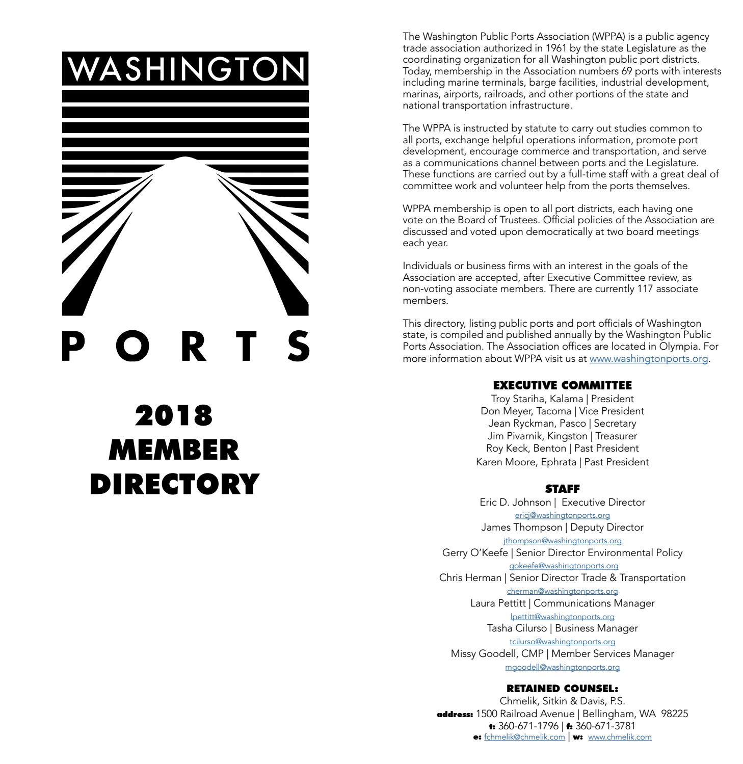 2018 WPPA Port Directory by washingtonports - issuu