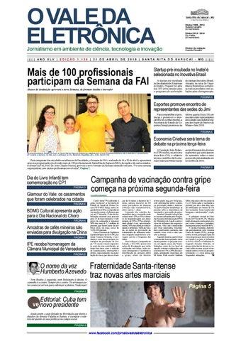 945d5478f O Vale da Eletrônica | 1.128 | 21.abr.2018 by Jornal O Vale da ...