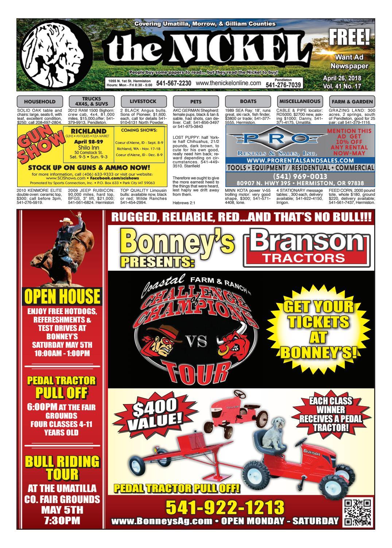 Umatilla County Fair Entertainment 2020.4 26 18 Issue By Hermiston Nickel Issuu