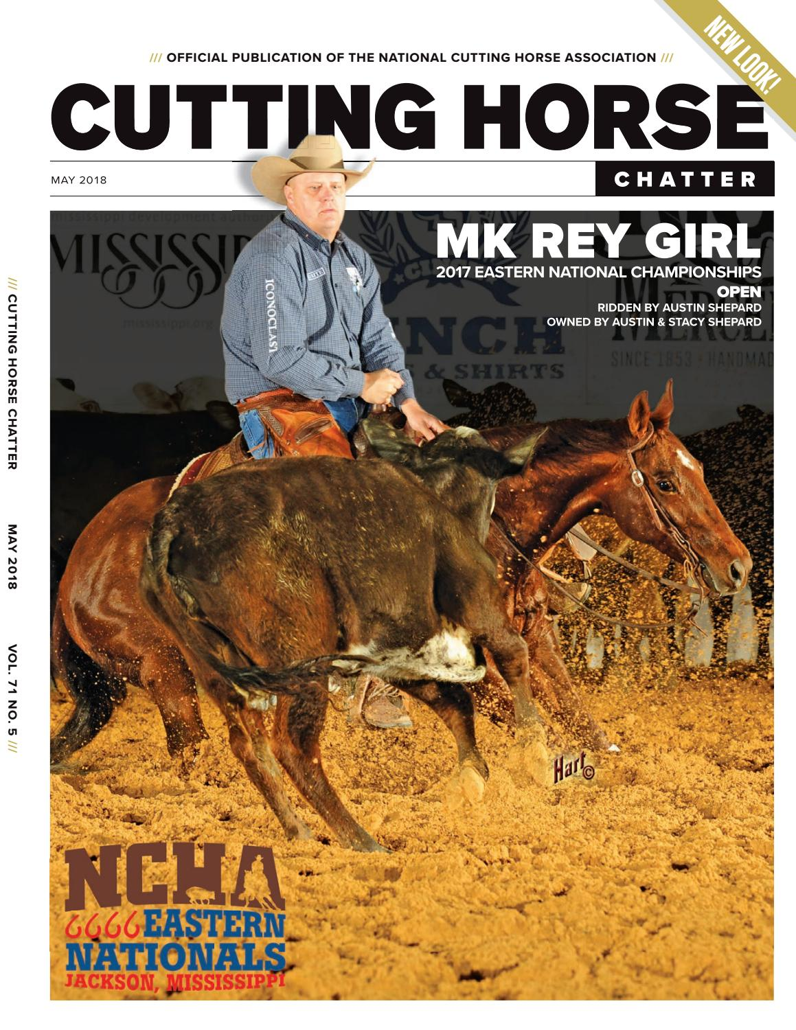 Cutting Horse Chatter - May 2018 by Cowboy Publishing Group - issuu 17e080a2efda