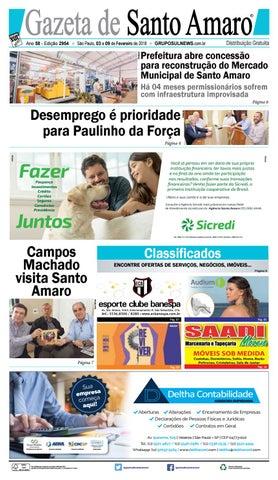 20cf657d1 GAZETA DE SANTO AMARO - Edição 2954 - São Paulo, 03 a 09 de ...