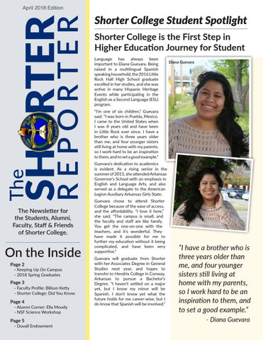 Shorter Reporter April 2018 by Shorter College - issuu