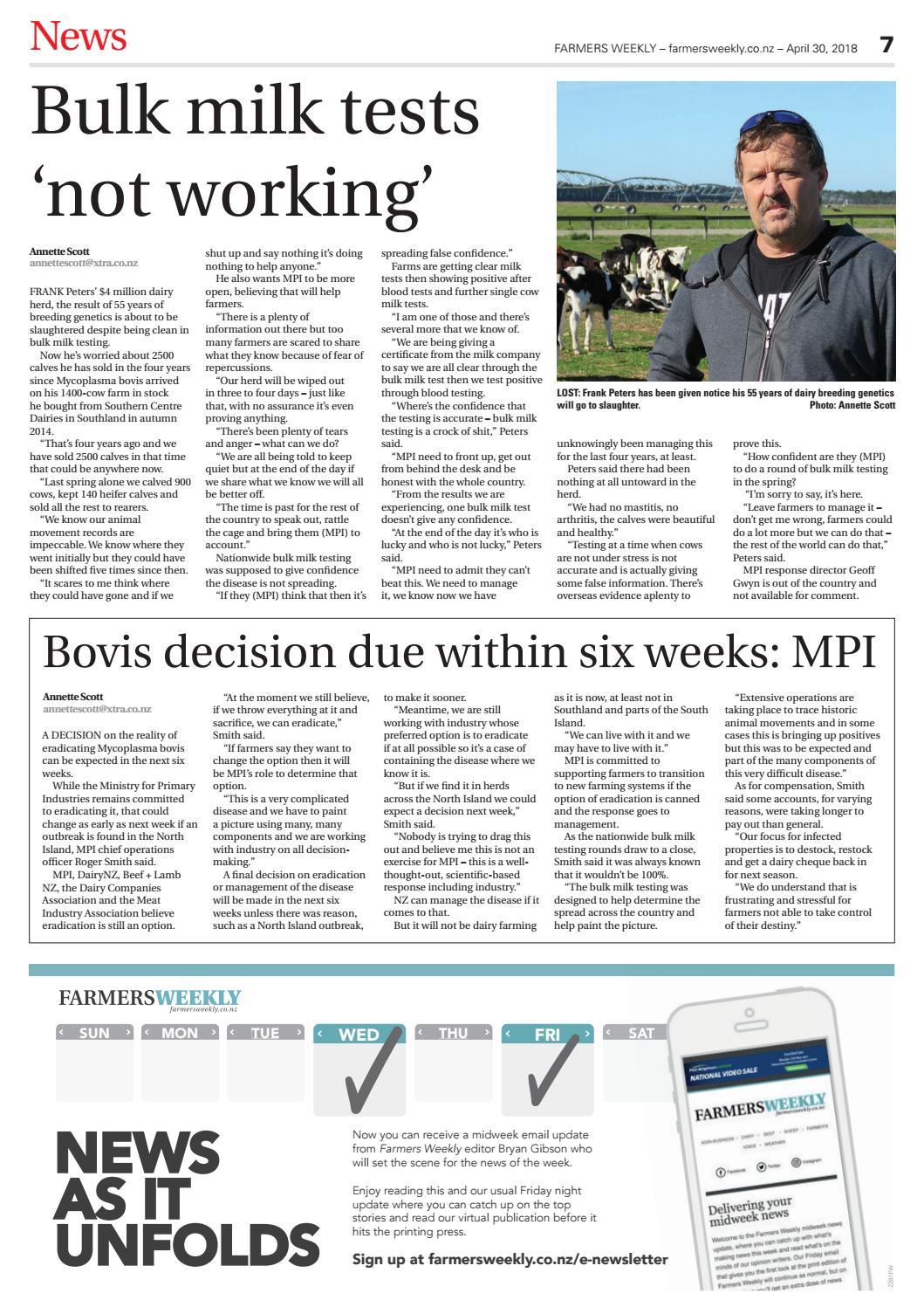 Farmers Weekly NZ April 30 2018 by Farmers Weekly NZ - issuu