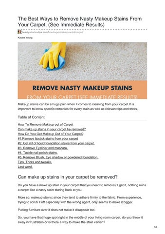 Remove Nasty Makeup Stains