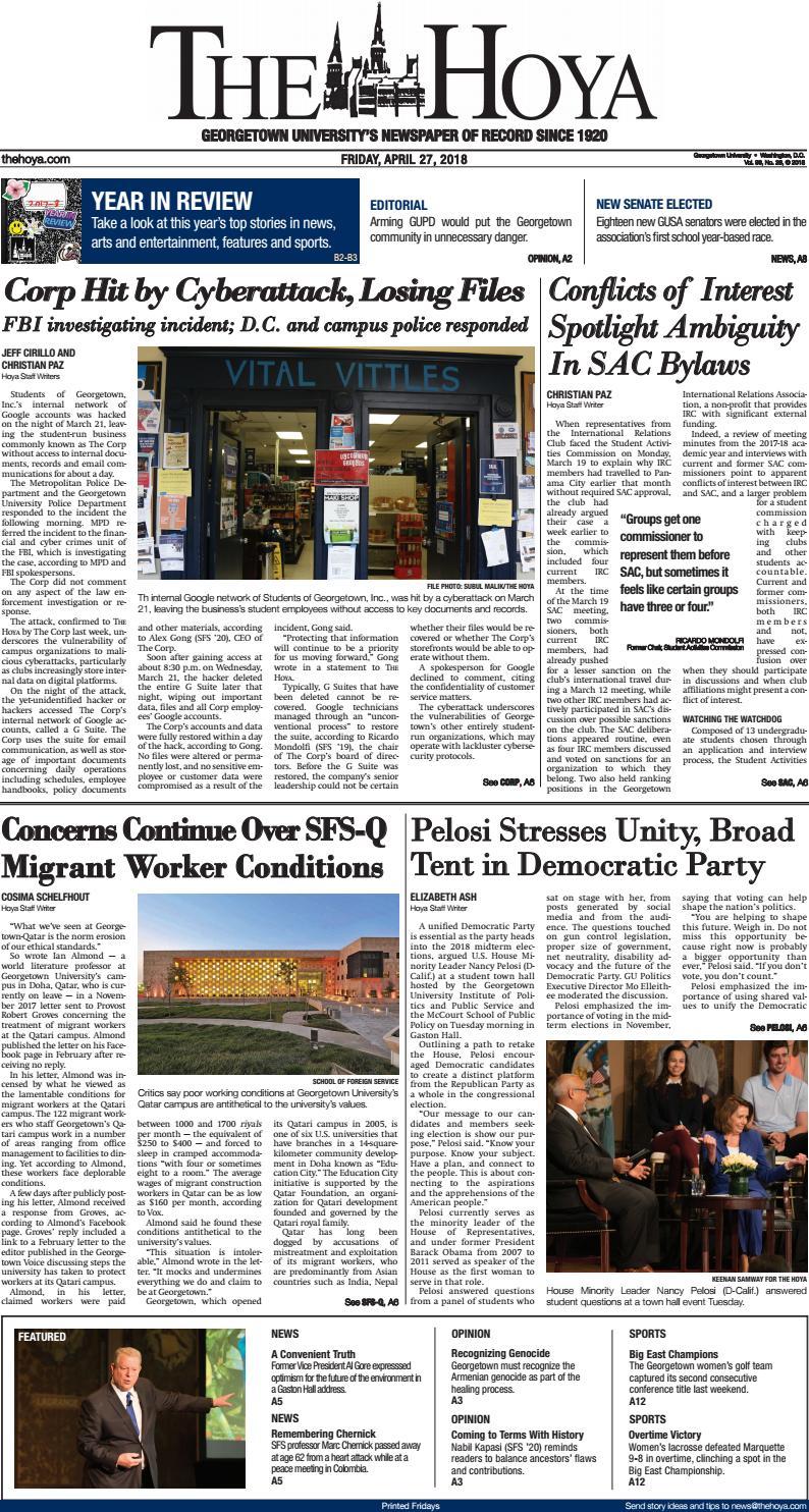 The Hoya: April 27, 2018 by The Hoya - issuu