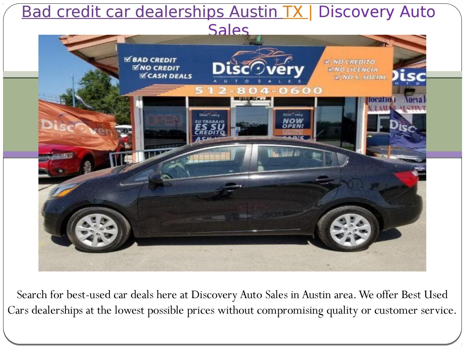 Bad Credit Car Dealerships Austin Tx By Discovery Auto Sales Issuu