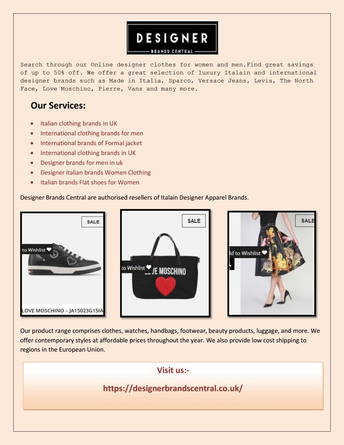 6148f7f865b Come visit our store for exclusive italian online designer clothes and  accessories at big discount p