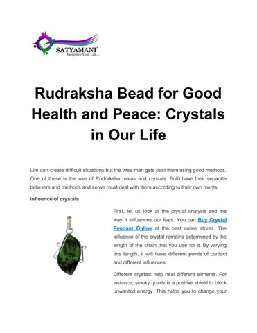 Rudraksha Bead For Good Health And Peace Crystals In Our Life By