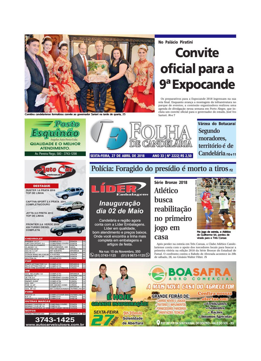 Edição n° 2222 (27 04 2018) by Folha de Candelária - issuu 0b7682c1f8c