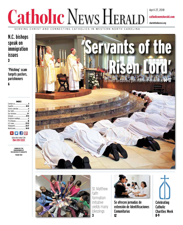 April 27, 2018 by Catholic News Herald - issuu