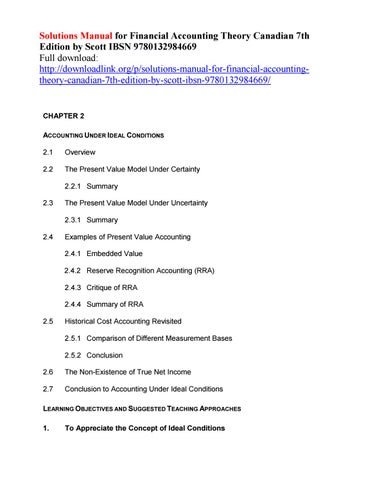solutions manual for financial accounting theory canadian 7th rh issuu com Managerial Accounting Accounting Information Systems