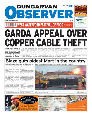 Dungarvan observer 20 4 2018 edition by dungarvan observer issuu page 1 fandeluxe Choice Image