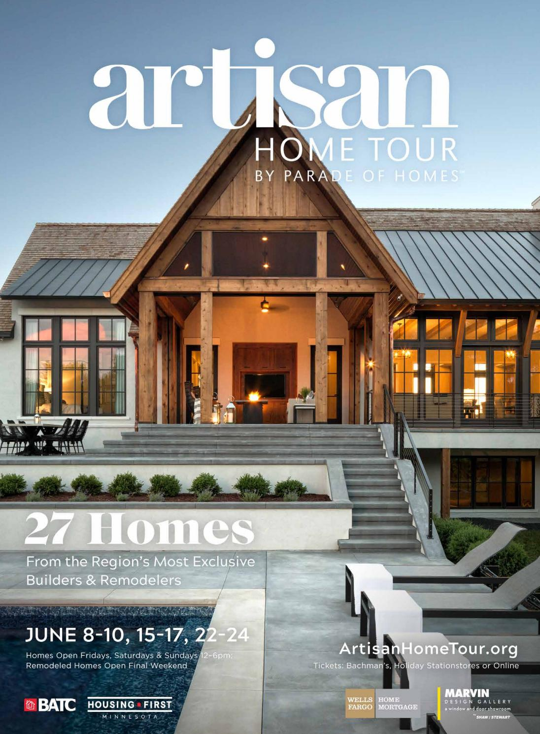Artisan home tour by parade of homes 2018 guidebook by batc housing first minnesota issuu