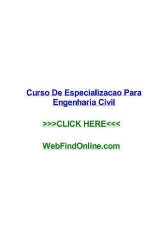 Curso De Especializacao Para Engenharia Civil By