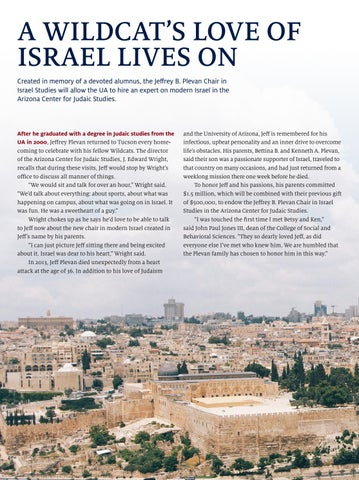 Page 6 of A Wildcat's Love of Israel Lives On