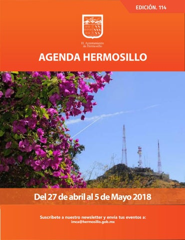 "Cover of ""Agenda Hermosillo 27 abril 2018"""