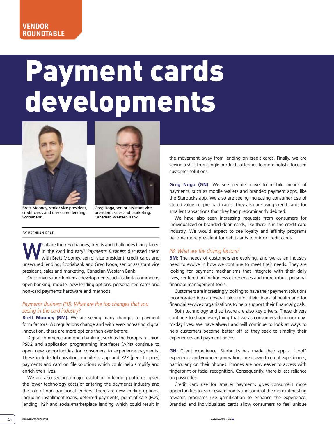 Payments Business Magazine Mar/Apr 2018 by Lloydmedia Inc - issuu
