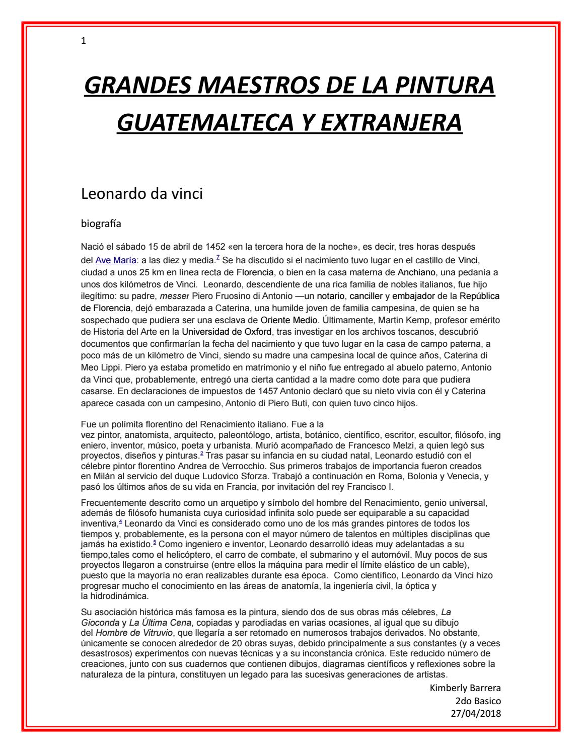 Grandes pintores de Guatemala by kimberly Barrera - issuu