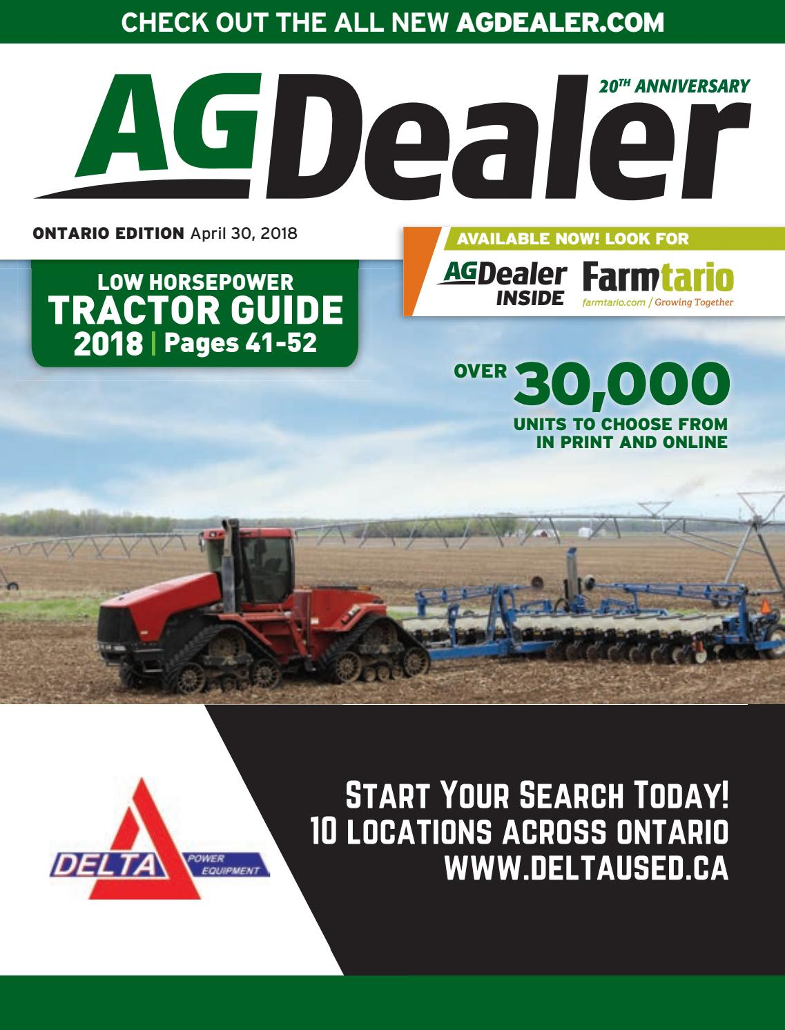 AGDealer ALL Ontario Edition, April 30, 2018 by Farm Business  Communications - issuu