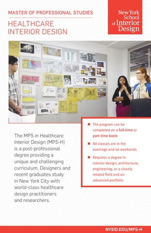 Healthcare interior design graduate program by new york - Interior design graduate programs ...