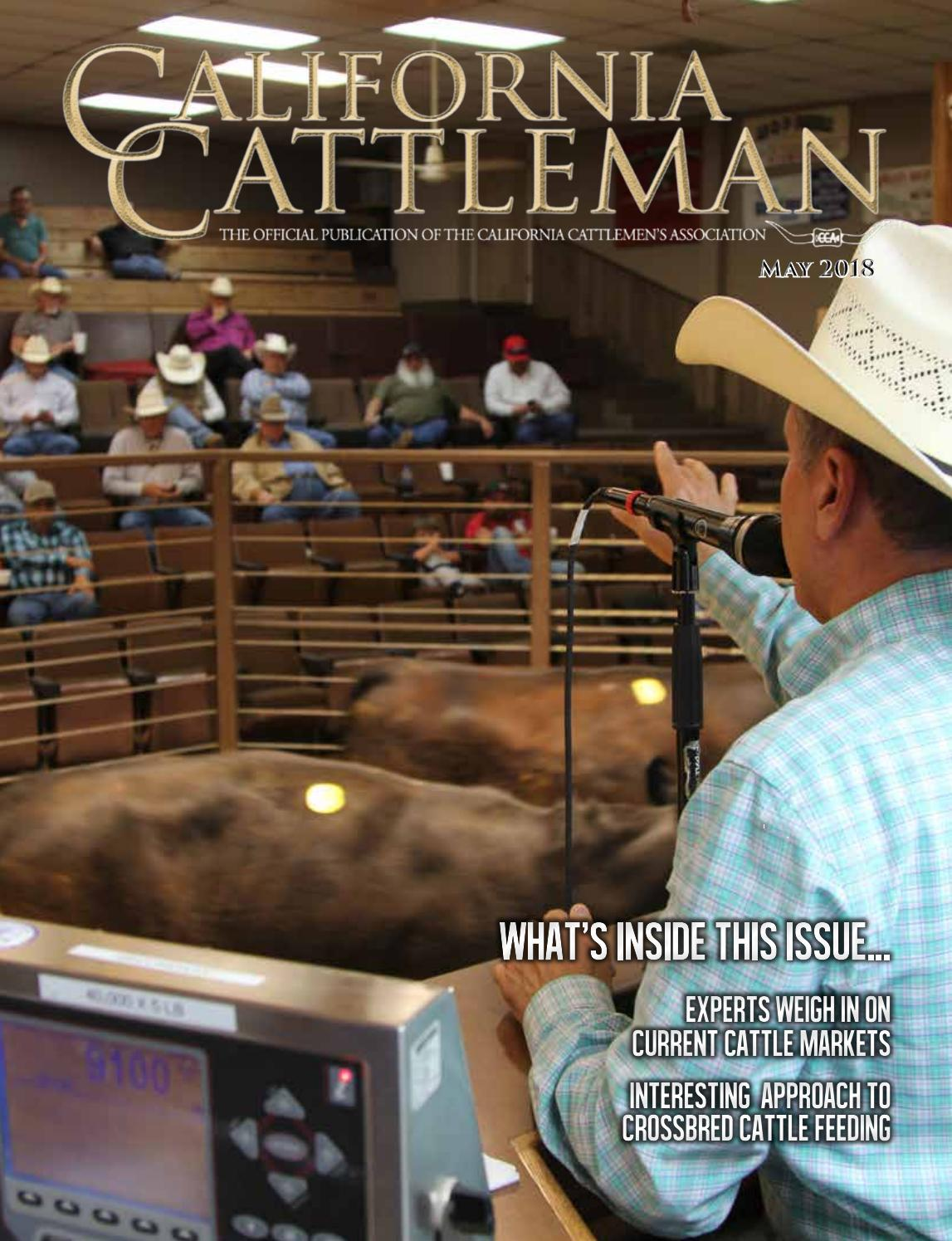 May 2018 California Cattleman by California Cattleman - issuu fd3e0707f