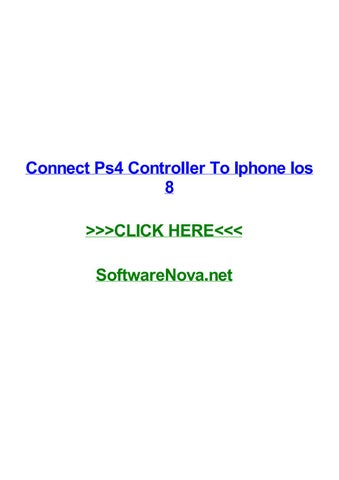 connect ps4 controller to iphone no jailbreak