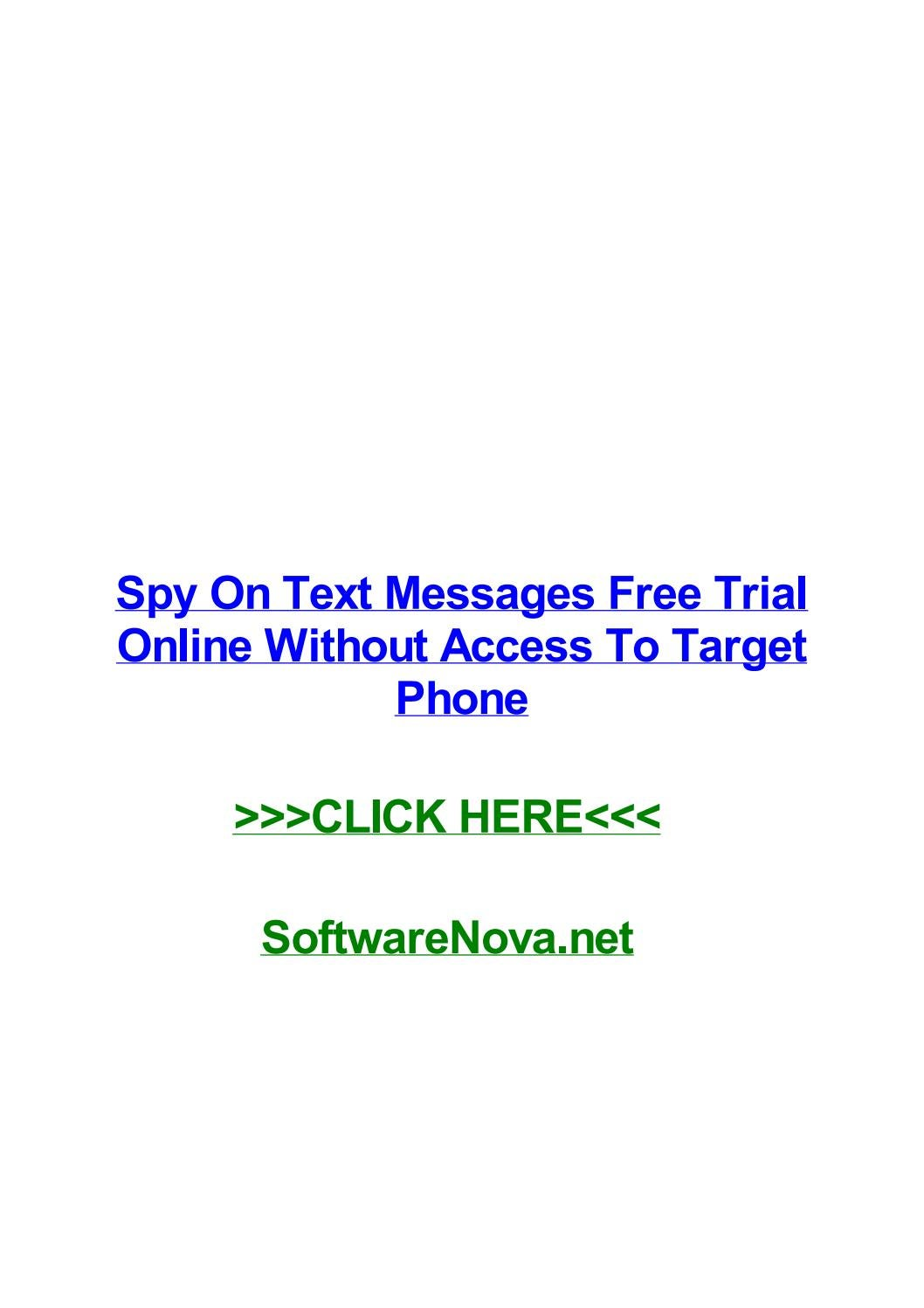 spy on text messages free trial