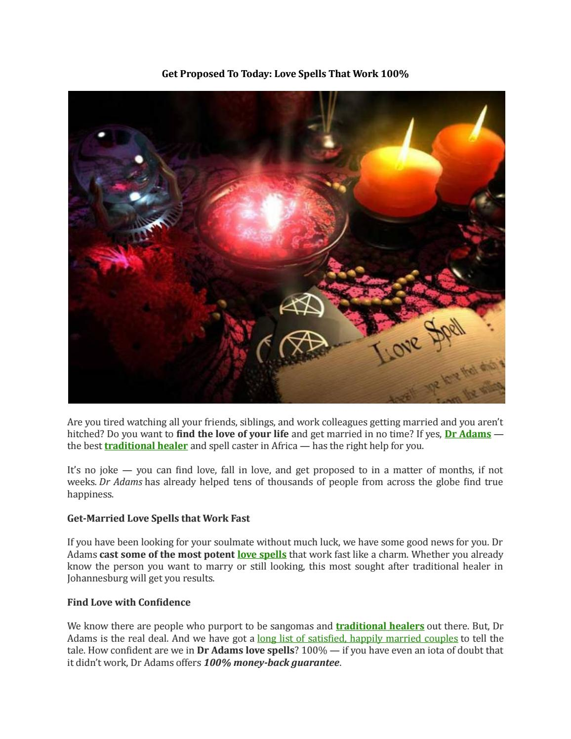 Get proposed to today love spells that work 100 by Dr Adam Spell