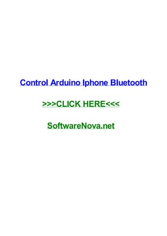 Control arduino iphone bluetooth by tinadrwvt - issuu