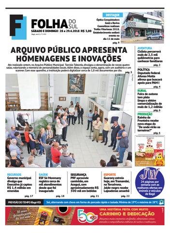 8501a1c6a Jornal Folha do Sul, 28 e 29 de abril de 2018 by Folha do Sul Gaúcho ...