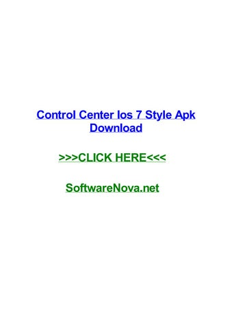 Control center ios 7 style apk download by dianadpyw - issuu
