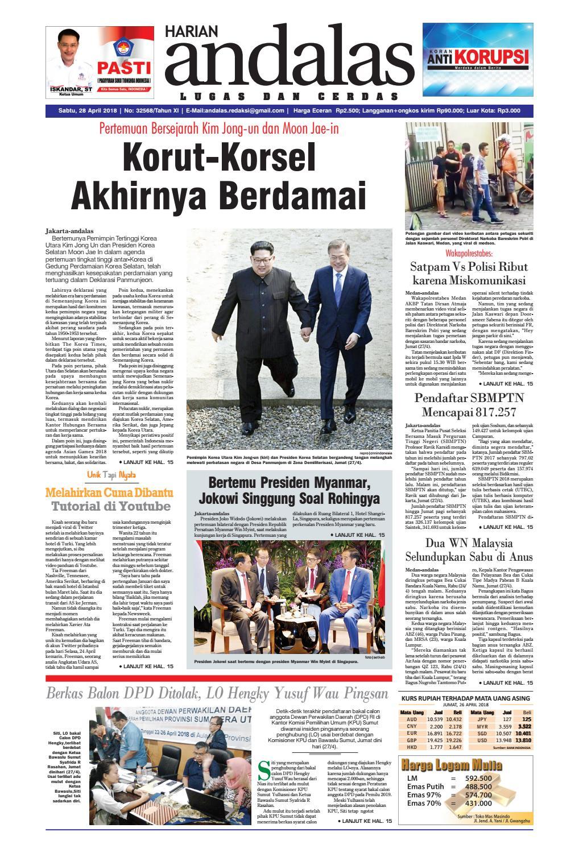 Epaper Andalas Edisi Sabtu 28 April 2018 By Media Issuu Produk Ukm Bumn Tas Phiton Kombinasi Coklat Krem