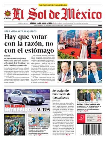 El Sol de México 28 de abril 2018 by El Sol de México - issuu 771c0d03d78f
